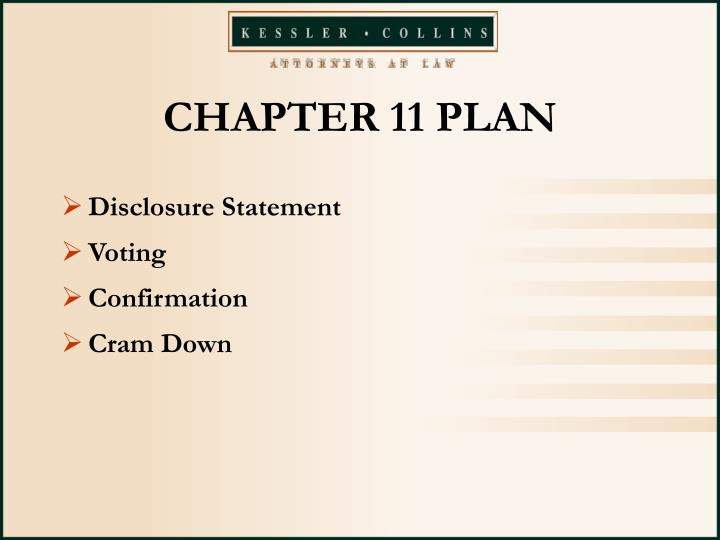 CHAPTER 11 PLAN