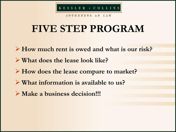 FIVE STEP PROGRAM