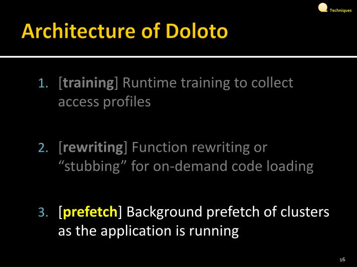 Architecture of Doloto
