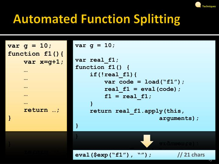 Automated Function Splitting