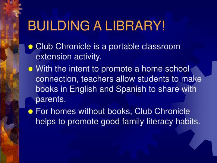 BUILDING A LIBRARY!