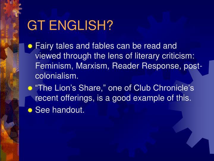 GT ENGLISH?