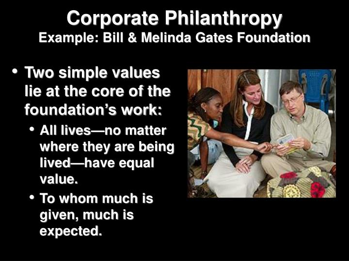Two simple values lie at the core of the foundation's work: