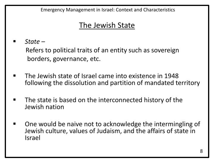 Emergency Management in Israel: Context and Characteristics