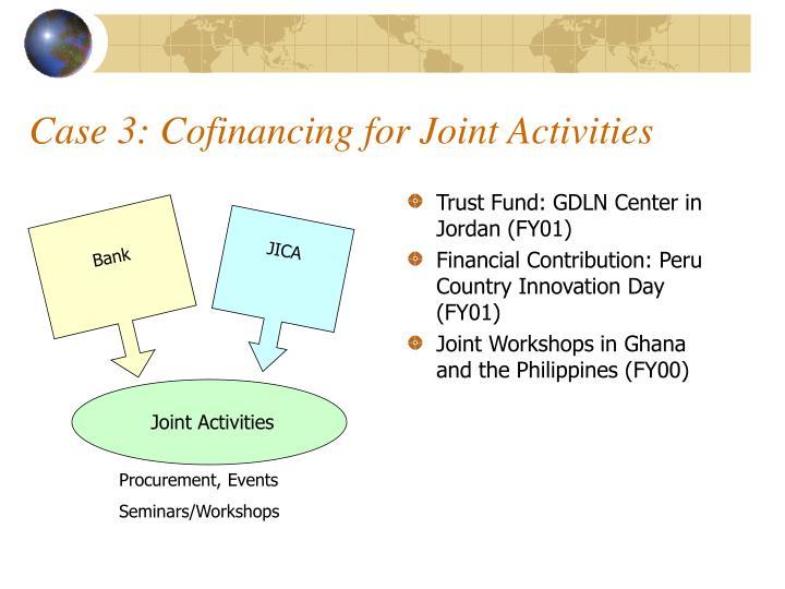 Case 3: Cofinancing for Joint Activities