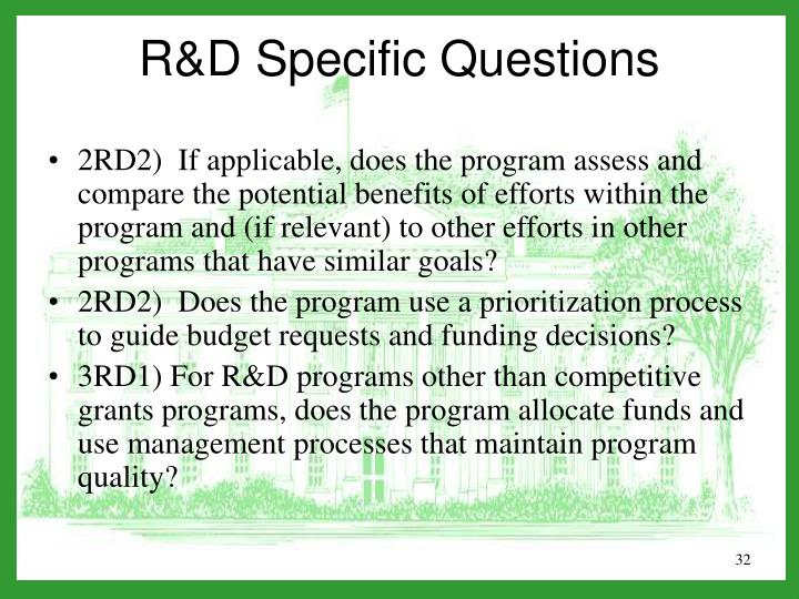 2RD2)  If applicable, does the program assess and compare the potential benefits of efforts within the program and (if relevant) to other efforts in other programs that have similar goals?