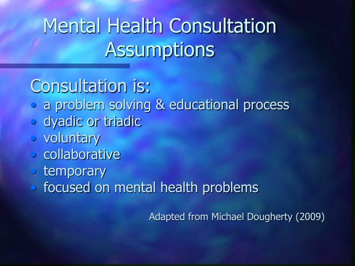 Mental Health Consultation Assumptions