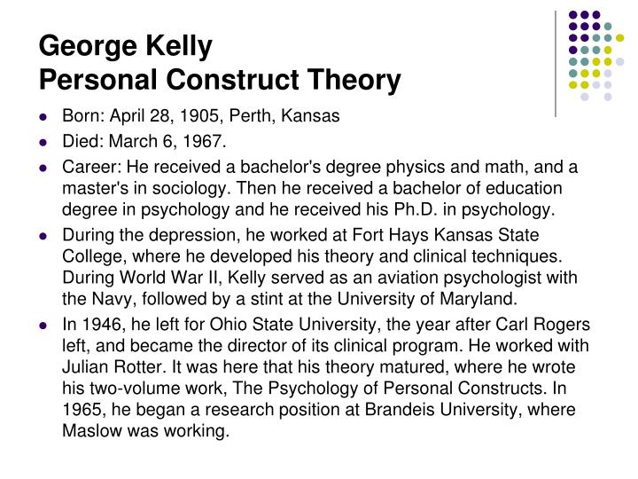 George kelly cognitive theory
