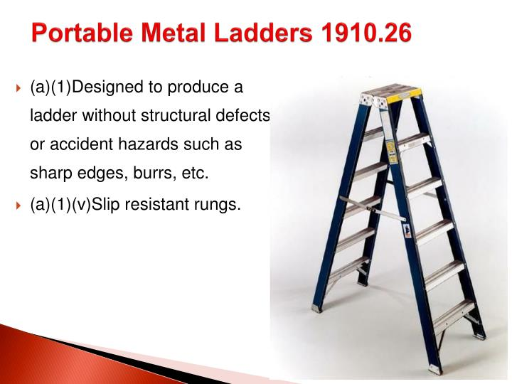 Portable Metal Ladders 1910.26