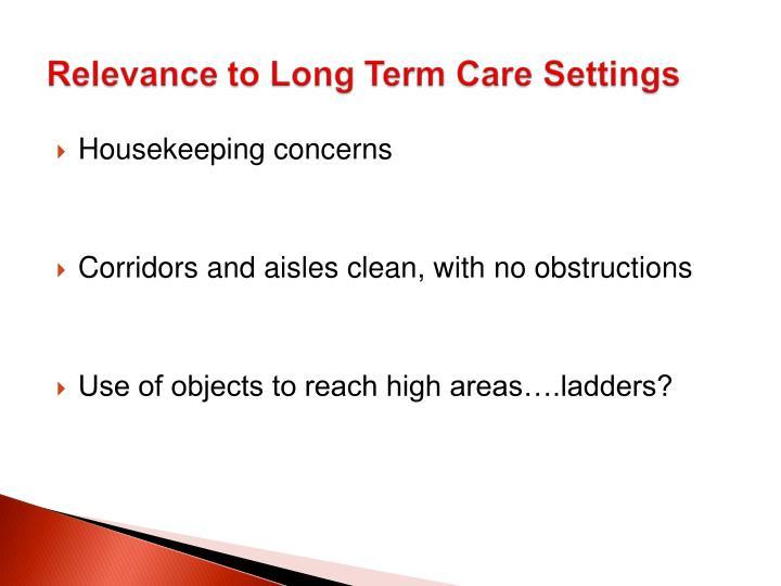 Housekeeping concerns