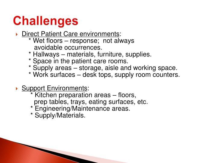 Direct Patient Care environments