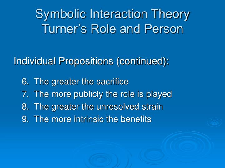 Symbolic Interaction Theory