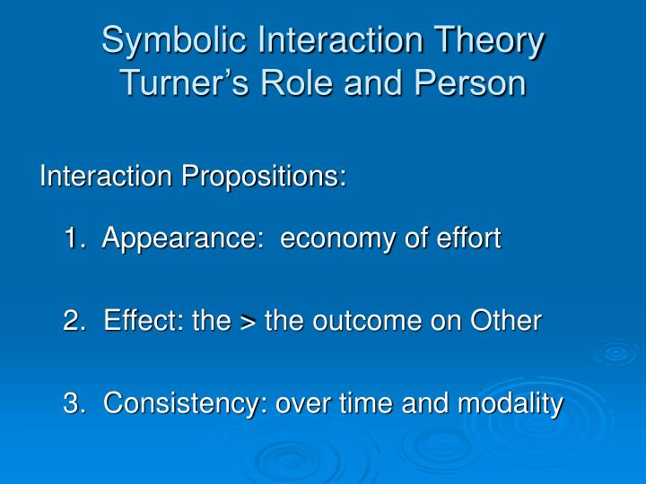 Symbolic interaction theory turner s role and person2