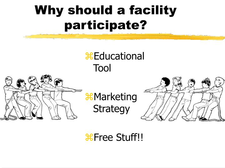 Why should a facility participate?