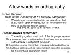 a few words on orthography2