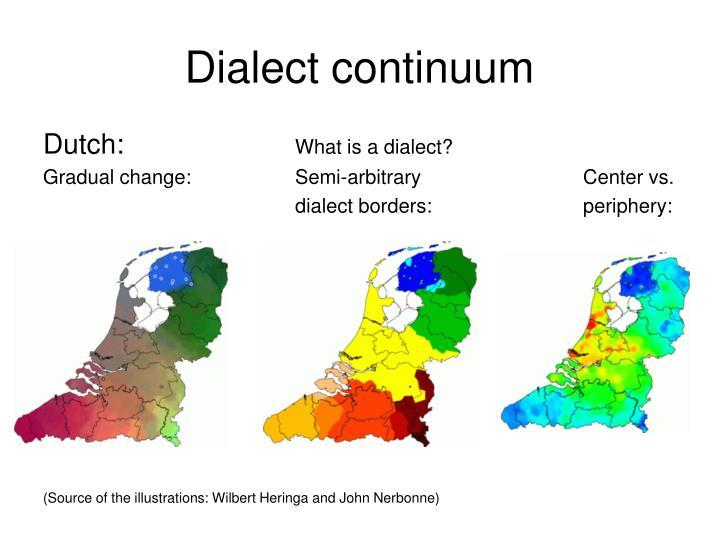 Dialect continuum