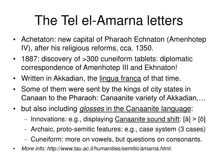 The Tel el-Amarna letters