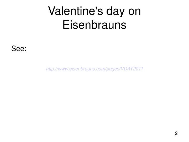 Valentine s day on eisenbrauns