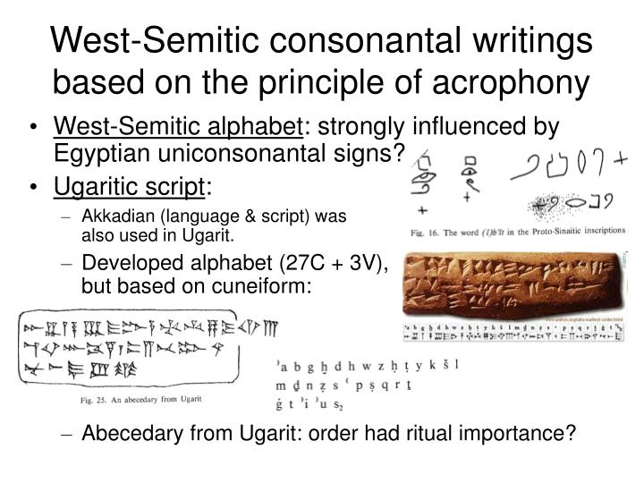 West-Semitic consonantal writings
