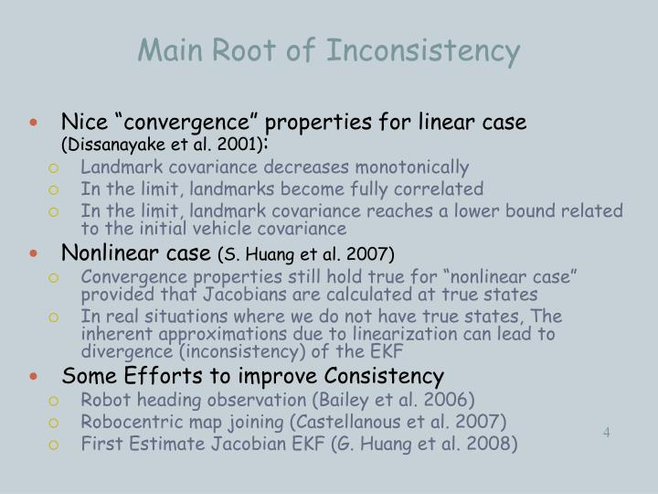 Main Root of Inconsistency