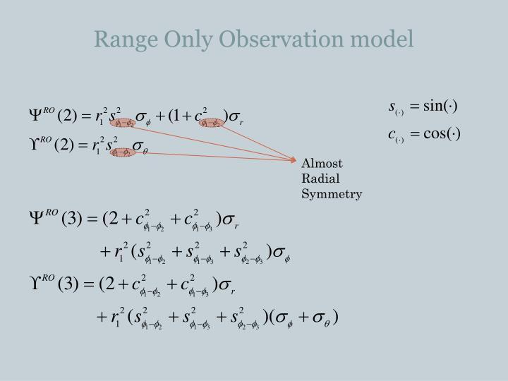 Range Only Observation model