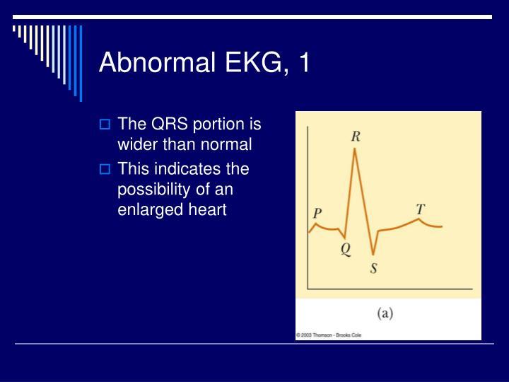 Abnormal EKG, 1