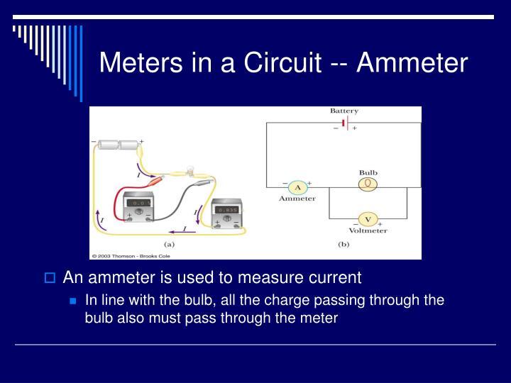 Meters in a Circuit -- Ammeter