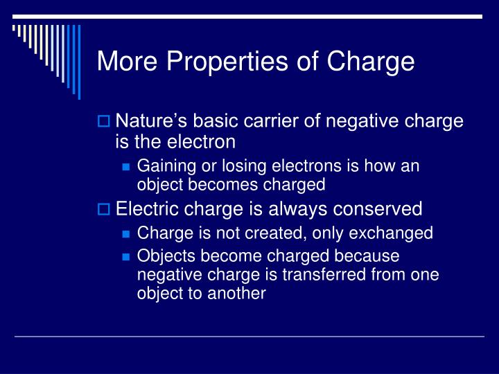 More Properties of Charge