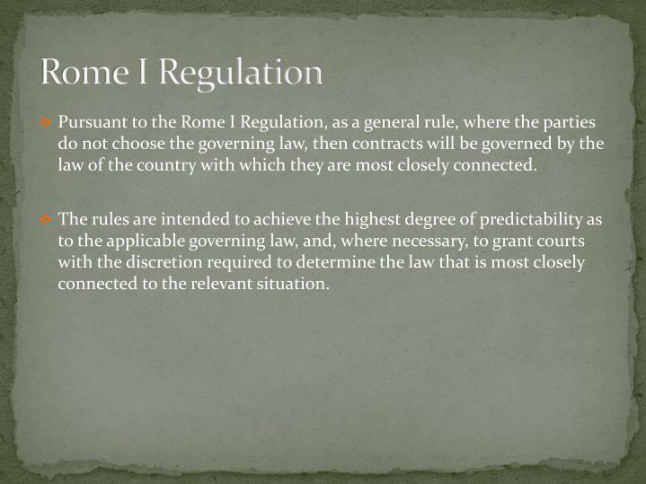 Rome I Regulation