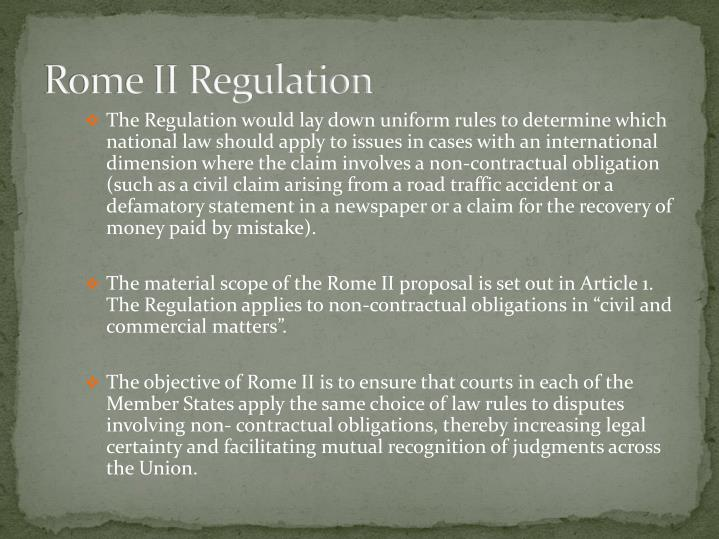 Rome II Regulation