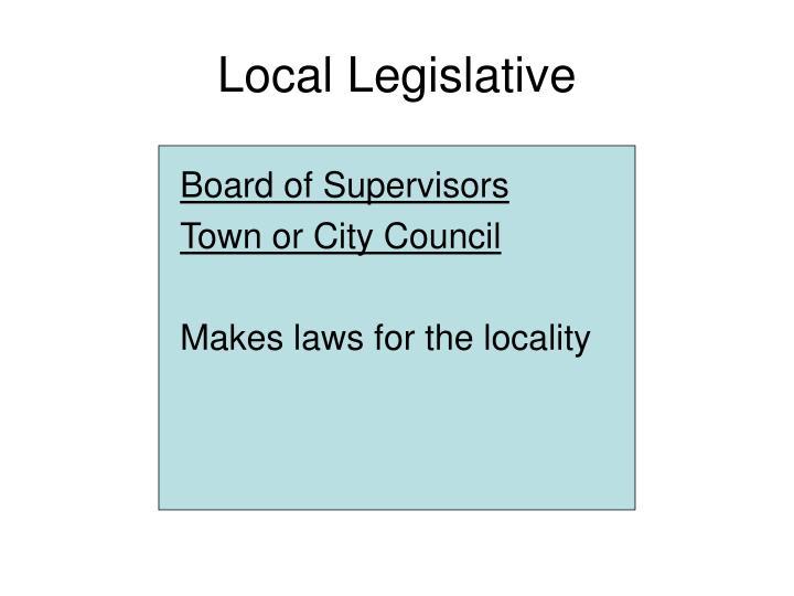 Local Legislative