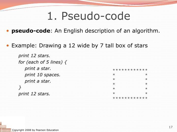 1. Pseudo-code