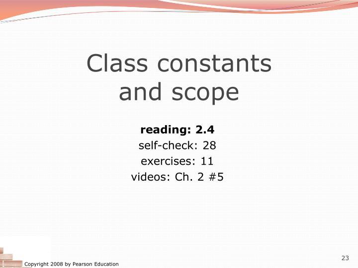 Class constants