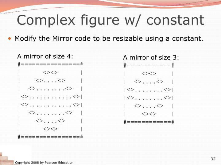 Complex figure w/ constant