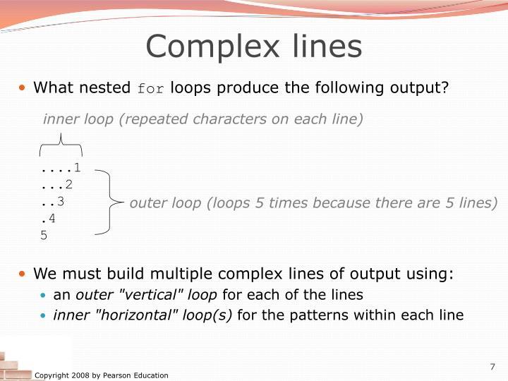 Complex lines