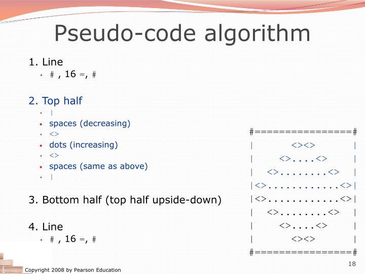 Pseudo-code algorithm