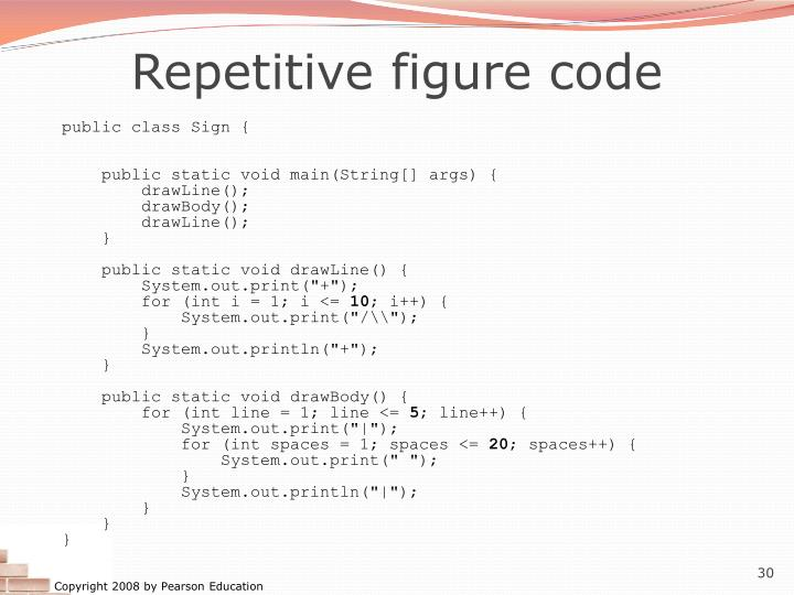 Repetitive figure code
