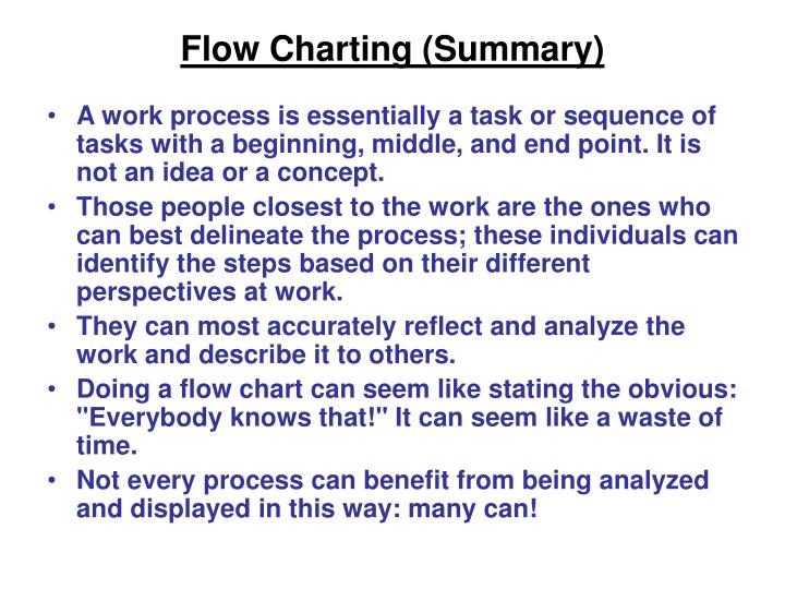 Flow Charting (Summary)