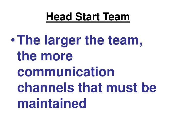 Head Start Team