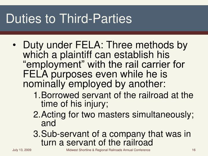 Duties to Third-Parties