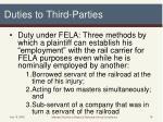 duties to third parties