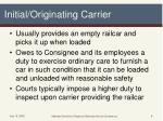 initial originating carrier