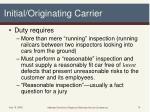 initial originating carrier1