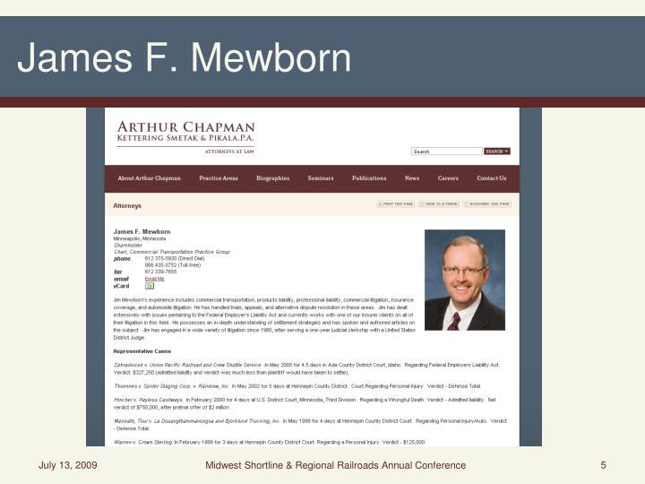 James F. Mewborn