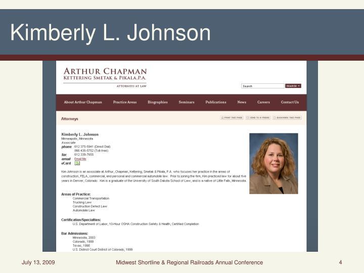 Kimberly L. Johnson