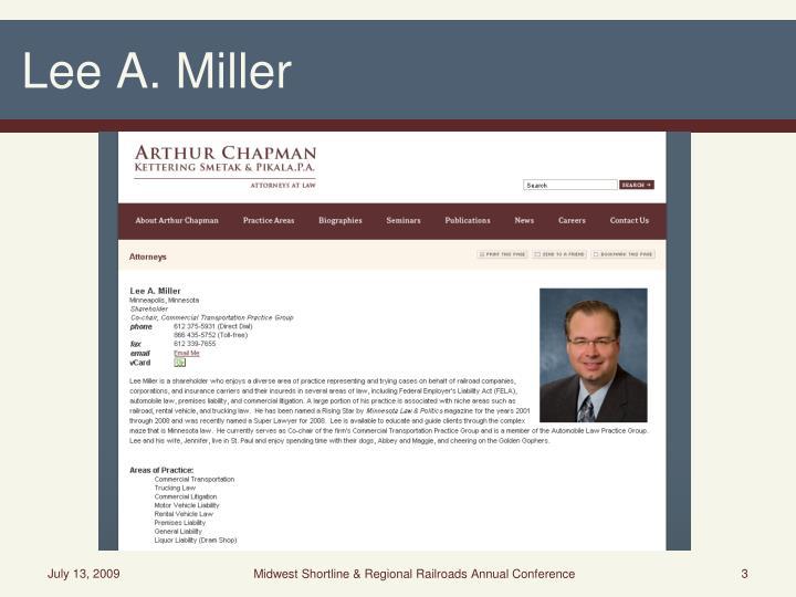 Lee A. Miller