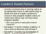 loaded sealed railcars