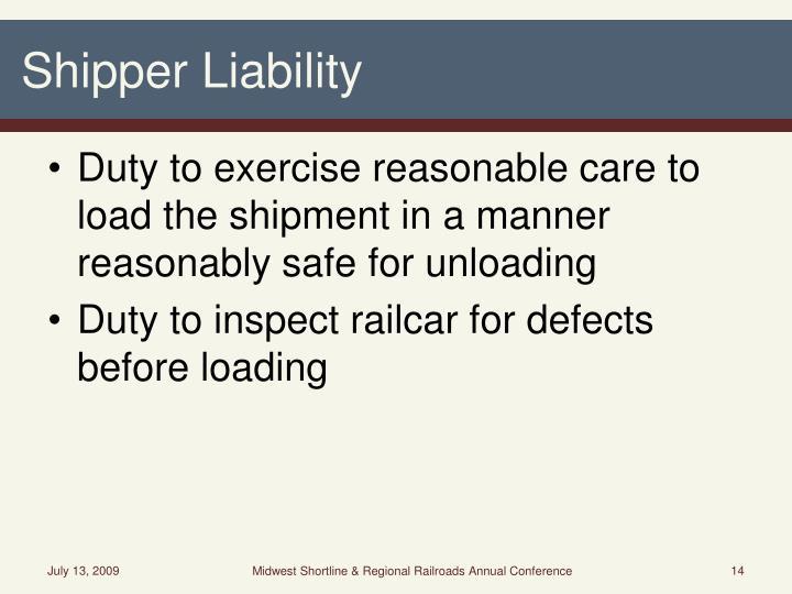 Shipper Liability