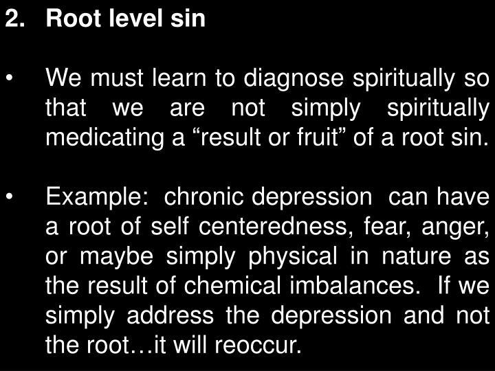 Root level sin