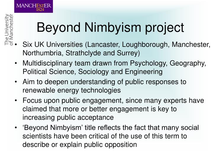 Beyond nimbyism project
